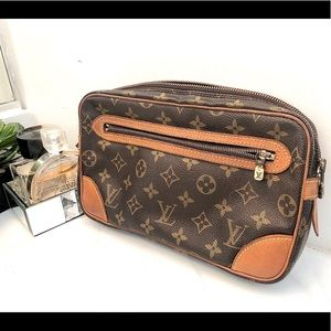 Louis Vuitton Clutch Marly Dragonne GM Monogram